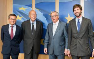 VALERY GISCARD D'ESTAING, MICHELANGELO BARACCHI BONVICINI, JEAN-CLAUDE JUNCKER
